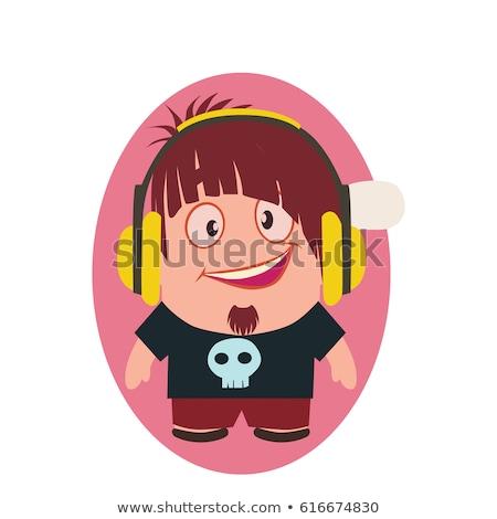 gülen · mutlu · komik · avatar · küçük · kişi - stok fotoğraf © loud-mango