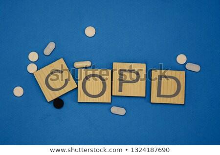 Angreifen gefliesten Wort isoliert weiß geschrieben Stock foto © enterlinedesign