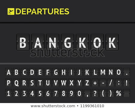 Airport display board of Bangkok Stock photo © tang90246