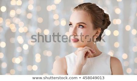 женщину золото ювелирные портрет красивой Сток-фото © lithian