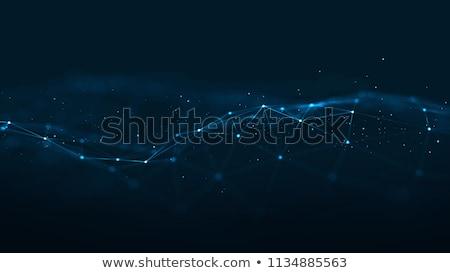 Blau digitalen futuristisch Technologie Mesh Design Stock foto © SArts