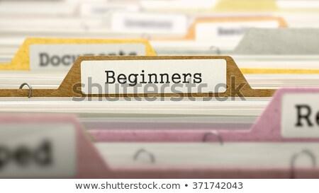 folder in catalog marked as beginners stock photo © tashatuvango