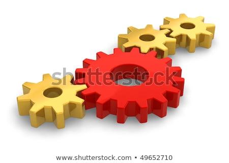 Stock fotó: üzlet · innováció · arany · sebességváltó · 3d · illusztráció · illusztráció