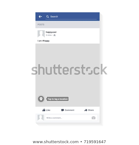 photo frame blank set vector illustration modern mobile app communication social network concept stock photo © pikepicture