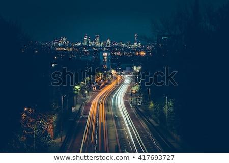 земле · ночь · City · Lights · Элементы · изображение · небе - Сток-фото © ixstudio