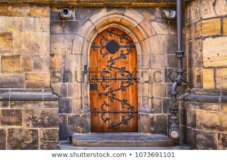 Back Windows of the St. Vitus Cathedral Stock photo © LucVi