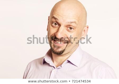 красивый лысые улыбаясь человека портрет Сток-фото © filipw
