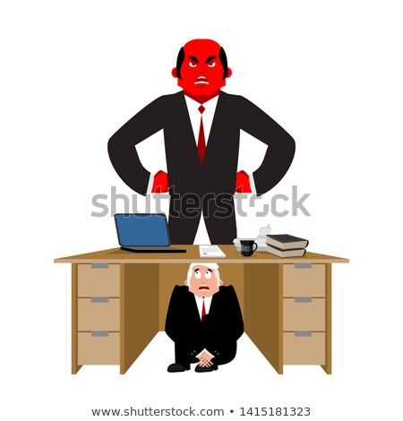 Imprenditore paura tavola arrabbiato boss scadenza Foto d'archivio © popaukropa