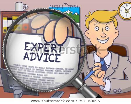 szakértő · tanács · lineáris · szöveg · nyíl · notebook - stock fotó © tashatuvango