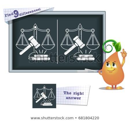 Bulmak farklılıklar oyun adalet çocuklar boyama kitabı Stok fotoğraf © Olena