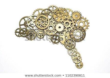 Creatieve procede gouden cog versnellingen metalen Stockfoto © tashatuvango