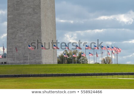Base Washington Monument Surrounded American Flags Stock photo © Qingwa