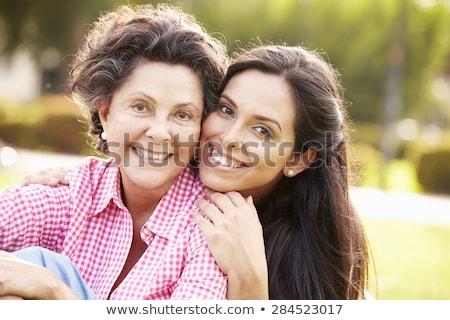 母親 娘 笑みを浮かべて 屋外 家族 自然 ストックフォト © IS2