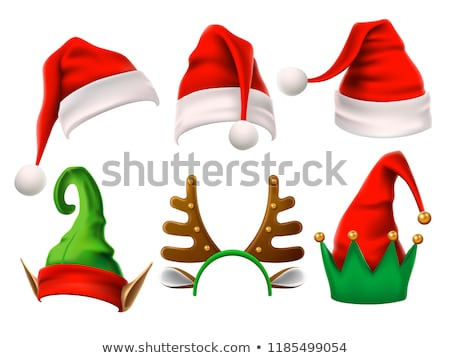 Santa Hat Reindeer Christmas Sign Stock photo © Krisdog