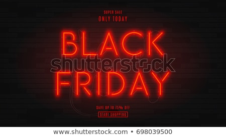 black friday red neon text stock photo © romvo
