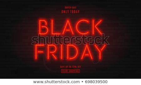 Black friday piros neon szöveg nagy vásár Stock fotó © romvo