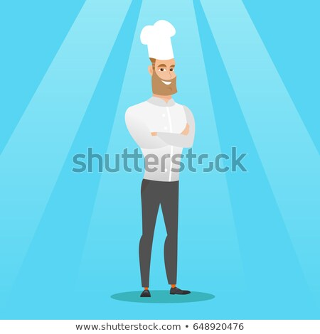 confident male chief cooker with arms crossed stock photo © rastudio