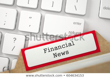 Stock photo: Index Card with Inscription Business News. 3D.