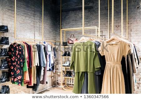 Vêtements magasin élégant gris violette velours Photo stock © Dinga