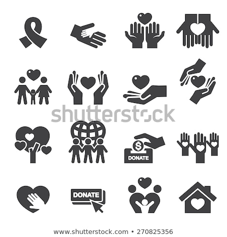 Donation Hands Icons Stock photo © lenm