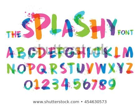 алфавит письме стилизованный красочный жидкость чернила Сток-фото © Andrei_