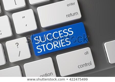 Success Stories CloseUp of Keyboard. 3D Render. Stock photo © tashatuvango