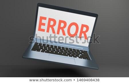 Atenção moderno teclado 3D dedo Foto stock © tashatuvango