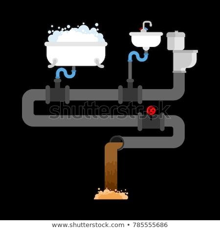Bad sanitair riolering huis kamer dienst Stockfoto © MaryValery
