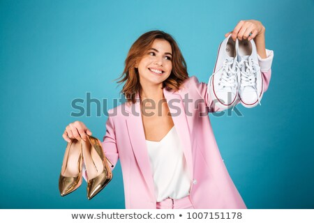 chaussures · décision · chaussures · choix · image · femme · sexy - photo stock © is2