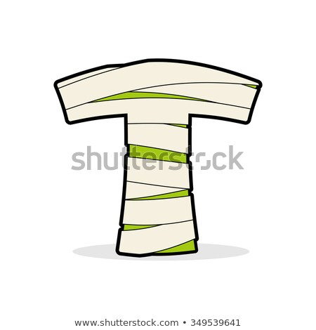 Letter T Mummy. Typography icon in bandages. Horrible Egyptian  Stock photo © popaukropa
