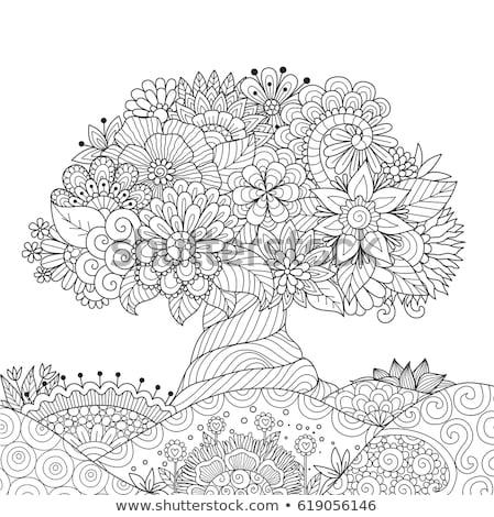 Mandala színes kártya szalag terv jóga Stock fotó © SArts