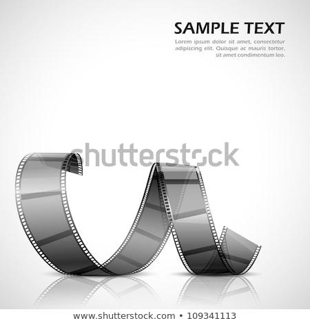 film · şeridi · vektör · ayarlamak · gerçekçi · çerçeve · yalıtılmış - stok fotoğraf © loopall