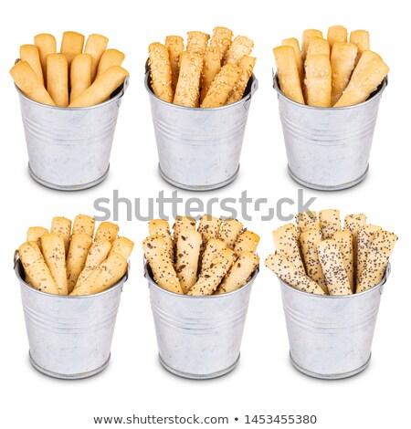 galleta · salada · vidrio · blanco · alimentos · fondo · postre - foto stock © digifoodstock