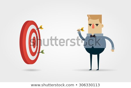 Dardo conselho suporte vetor desenho animado ilustração Foto stock © RAStudio