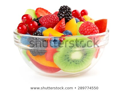 üveg frissítő gyümölcssaláta közelkép nyári gyümölcs saláta Stock fotó © mpessaris