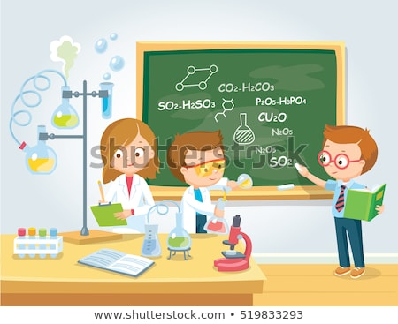 Children in chemistry class Stock photo © IS2