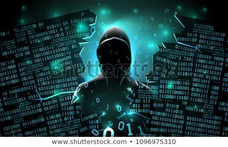 Computer hacker hacking artificial neural network Stock photo © stevanovicigor