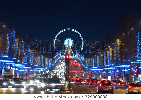 Ferris wheel at Champs Elysee Stock photo © Givaga