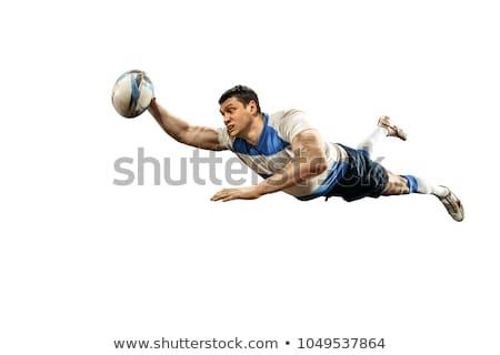 Rugby spelers bal man fitness blauwe hemel Stockfoto © IS2