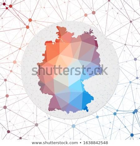 Germany in blockchain technology network style Stock photo © RAStudio
