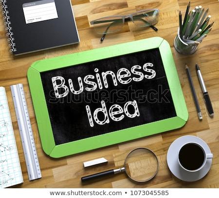 small chalkboard with fresh idea concept 3d stock photo © tashatuvango