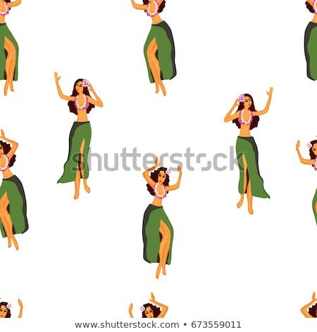 девушки · гирлянда · иллюстрация · женщину · воды · улыбка - Сток-фото © adrenalina
