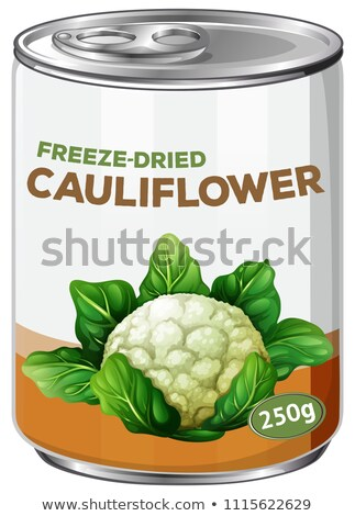 A Can of Freeze-Dried Cauliflower Stock photo © bluering