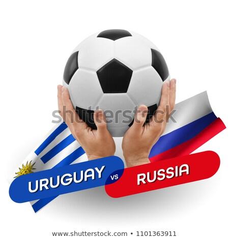 Voetbal wedstrijd Uruguay vs Rusland voetbal Stockfoto © Zerbor