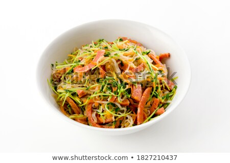 Spicy Noodles With Vegetables And Fried Pork Stock photo © mpessaris