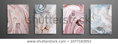 Modern marble art poster template Stock photo © orson