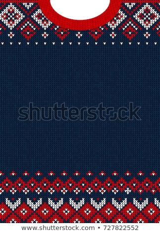 Vrouw trui Blauw wol verloofd handen Stockfoto © compuinfoto