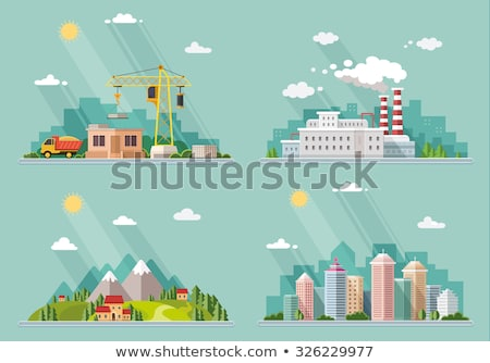 vector urban landscape of a city pollution Stock photo © freesoulproduction