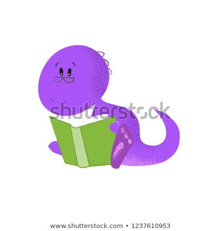 Monster boek verhaal tijd illustratie cute Stockfoto © lenm