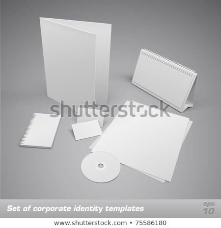 Moderno clean business cancelleria set design Foto d'archivio © SArts
